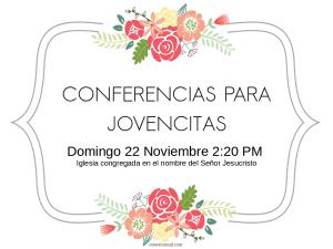 Conferencias para jovencitas @ Bello | Antioquia | Colombia