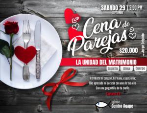 Cena de parejas: La unidad del matrimonio @ Iglesia Centro Agape | Medellín | Antioquia | Colombia